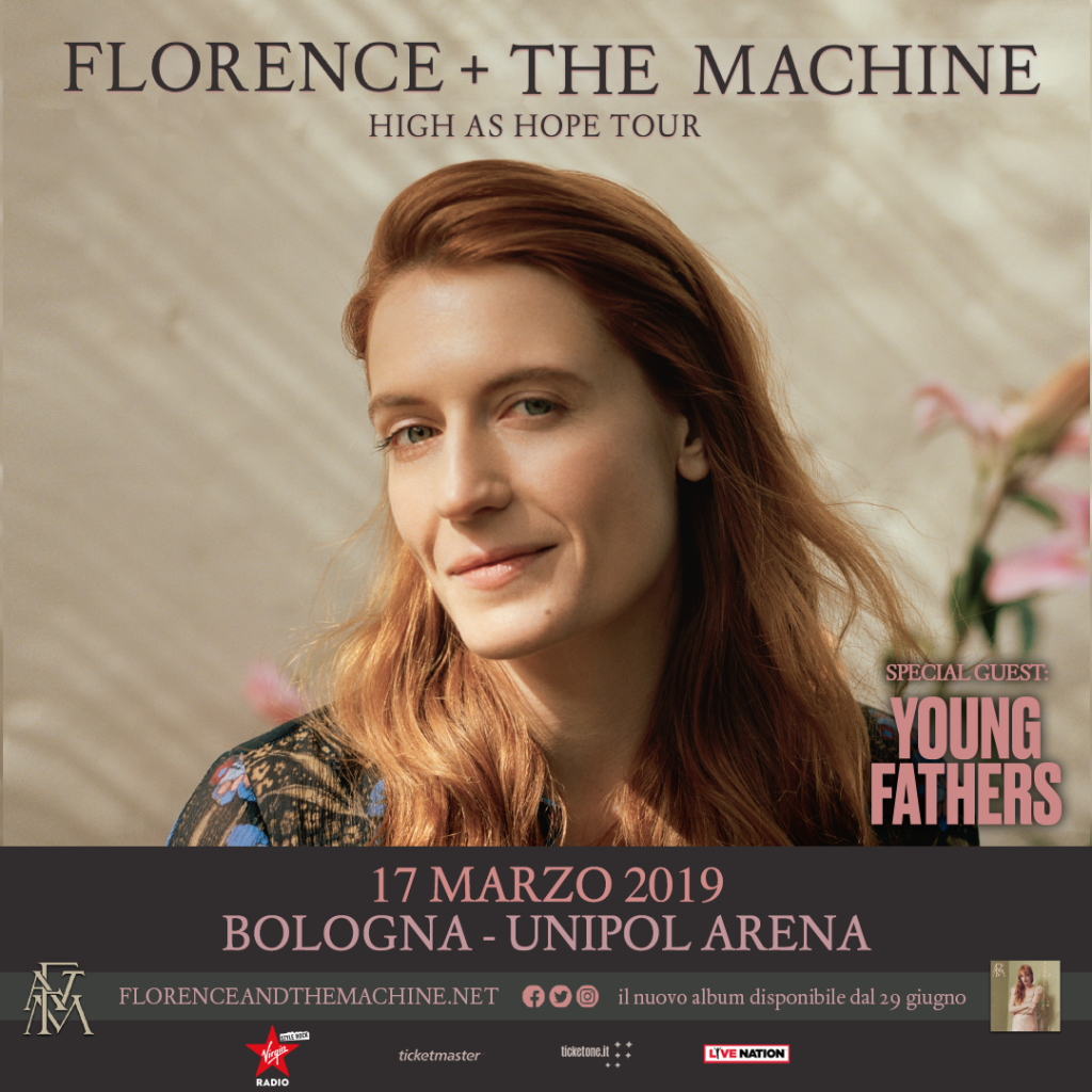 Florence + The Machine all'Unipol Arena il 17 marzo 2019