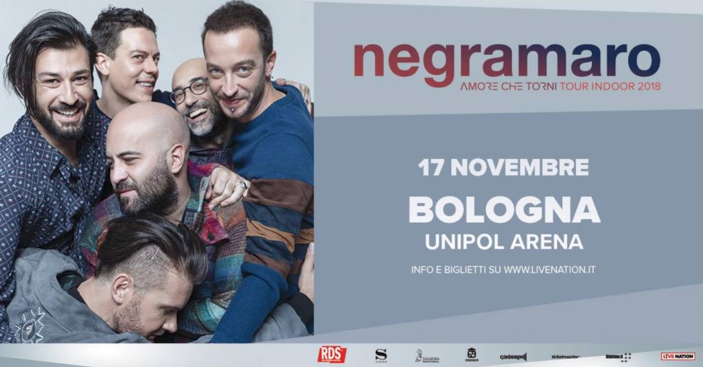 I Negramaro all'Unipol Arena il 17 novembre 2018!