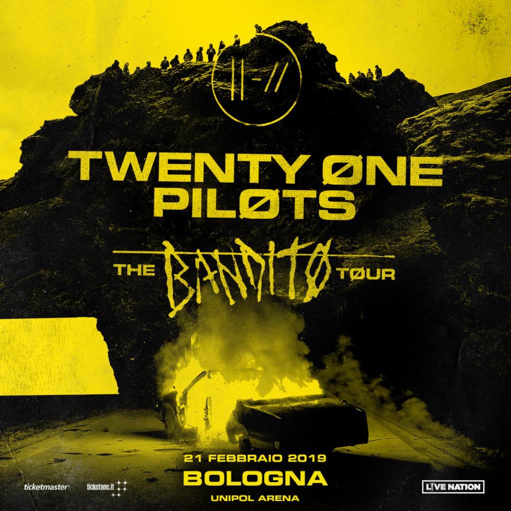 I Twenty One Pilots all'Unipol Arena il 21 febbraio 2019 – Unica data italiana!