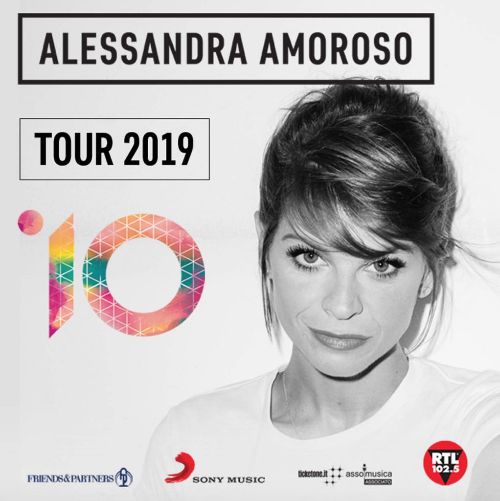 Alessandra Amoroso all'Unipol Arena il 15 marzo 2019