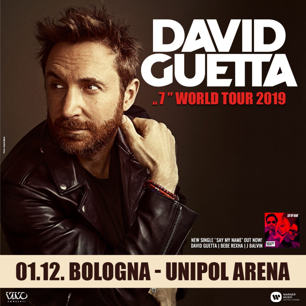 David Guetta all'Unipol Arena il 1 dicembre 2019 – Unica data italiana