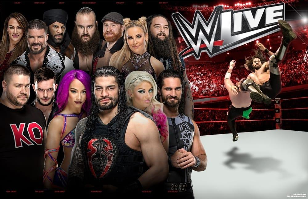 in bus all'Unipol Arena per l'evento wrestling WWE LIVE