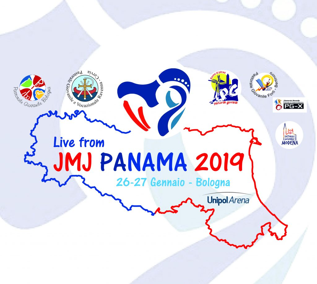 """""""Live from JMJ Panama 2019"""" – Sabato 26 e domenica 27 gennaio i giovani dell'Emilia Romagna all'Unipol Arena"""