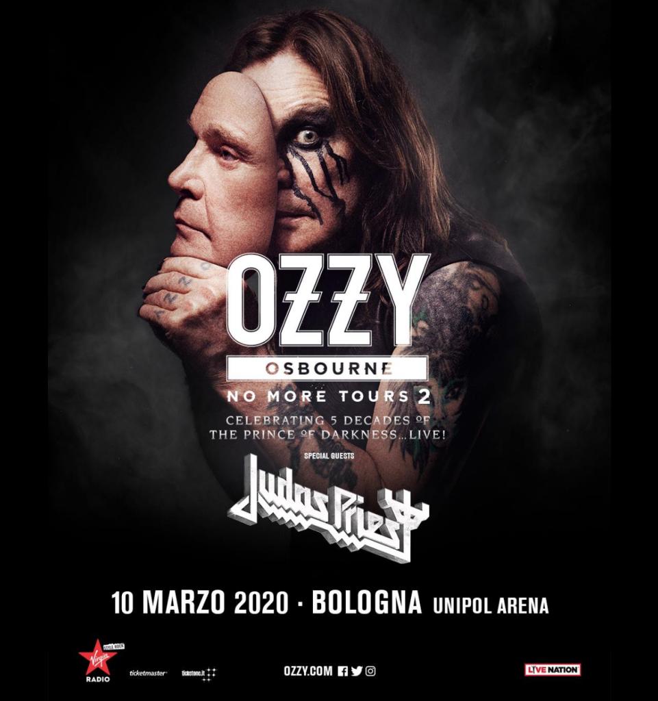 Ozzy Osbourne: concerto riprogrammato al 10 marzo 2020