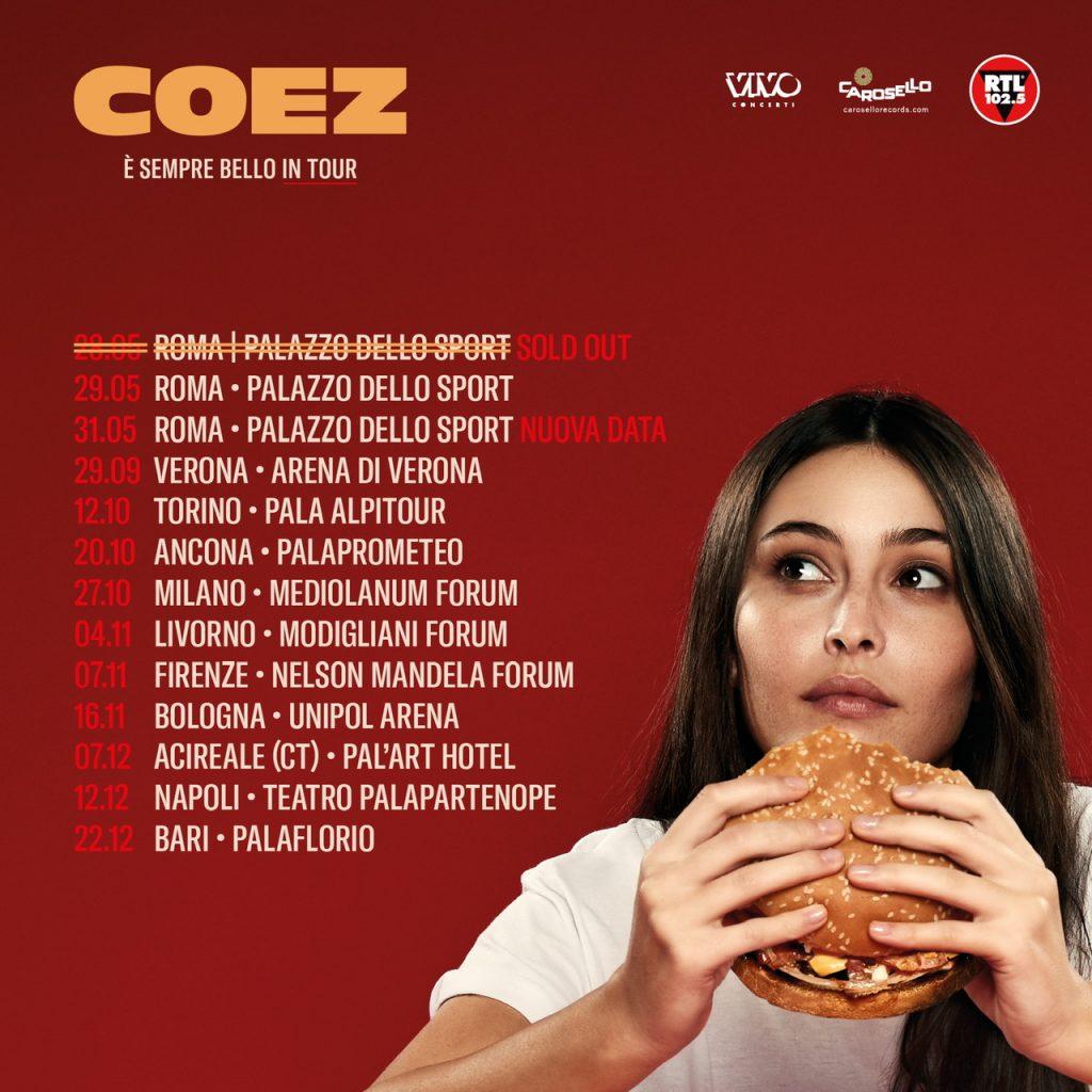 COEZ all'Unipol Arena il 16 novembre 2019