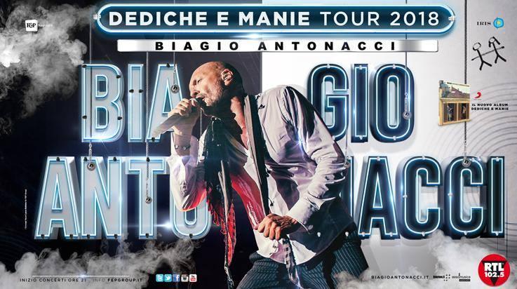 Biagio Antonacci all'Unipol Arena il 26 maggio 2018 per il GRAN FINALE del tour