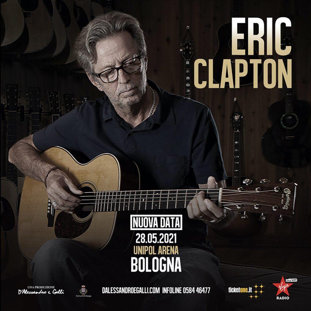 Eric Clapton: rinviato il tour europeo, nuova data all'Unipol Arena il 28 maggio 2021
