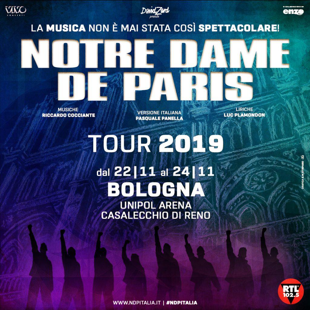 In bus agli spettacoli Notre Dame de Paris all'Unipol Arena
