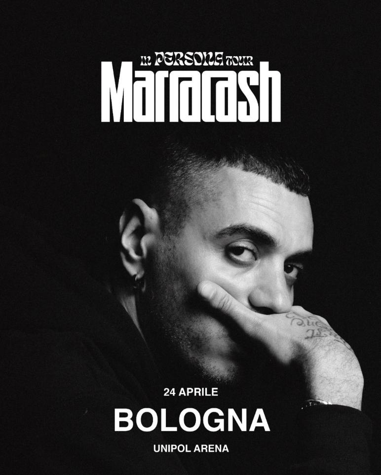 Marracash all'Unipol Arena il 24 aprile 2020