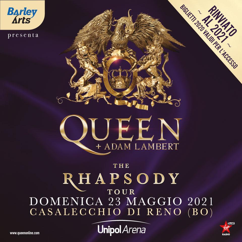 Queen + Adam Lambert: posticipato il tour europeo. Nuova data all'Unipol Arena il 23 maggio 2021