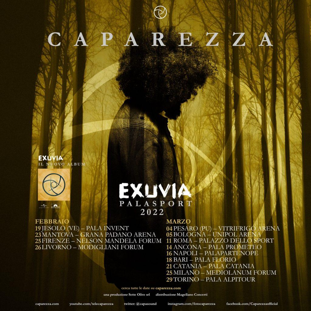 Caparezza torna live all'Unipol Arena il 5 marzo 2022 con EXUVIA TOUR!